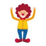 Circus clown cartoon. Icon vector illustration graphic design Stock Photography