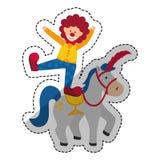 Circus clown cartoon Royalty Free Stock Images