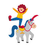 Circus clown cartoon Royalty Free Stock Photography