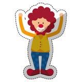 Circus clown cartoon Stock Images