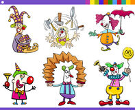 Circus clown characters set Royalty Free Stock Photography