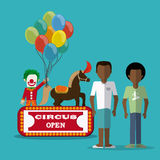 Circus clown design Stock Photo