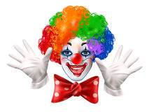 Circus Clown Face Colorful Realistic Portrait Royalty Free Stock Photos
