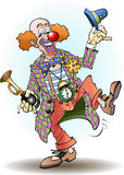 Circus clown greets Royalty Free Stock Images
