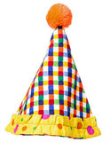 Circus Clown Hat over white Stock Images