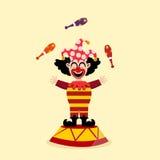 Circus clown illustration Stock Images