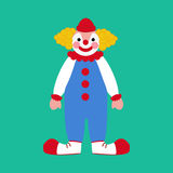 Circus clown illustration. Circus clown on the green background. Vector illustration Royalty Free Stock Images
