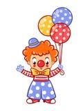 Circus clown illustration. Postcard, card, poster or invitation with a cute circus clown. Vector illustration Royalty Free Illustration