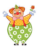 Circus clown illustration. Stock Images