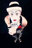 Circus clown in makeup Stock Image