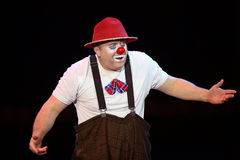 Circus Clown. A clown performs during a show at National Circus in Bucharest, Romania Stock Photography