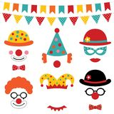 Circus and clown photo booth props. Circus and clown  photo booth props Stock Photos