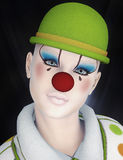 Circus clown portrait Royalty Free Stock Images