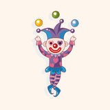Circus clown theme elements vector,eps Royalty Free Stock Photos