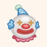 Circus clown theme elements vector,eps. Vector illustration file Stock Photos