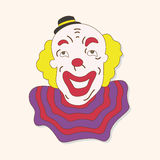 Circus clown theme elements vector,eps Royalty Free Stock Image
