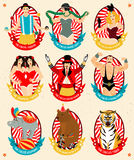 Circus collection. Vector illustration. Royalty Free Stock Photography