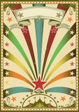 Circus color. A grunge multicolor vintage poster with a circus tent for your advertising Stock Photo