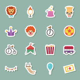 Circus color icons Royalty Free Stock Image