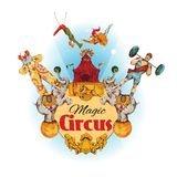 Circus colored background Stock Photo