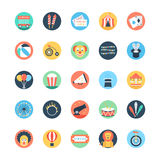Circus Colored Vector Icons 1 Royalty Free Stock Images