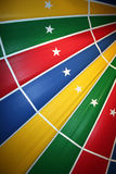 Circus. Colorful circus tent in geometric patterns royalty free stock photo
