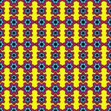 Circus colors. Seamless pattern, bright colors, inspired by 60s Vector Illustration