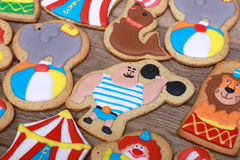 Circus Cookies Royalty Free Stock Photography