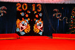 Circus curtain 2013 year Stock Photography