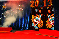 Circus curtain 2013 year Stock Images