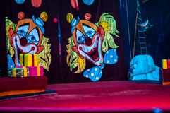 Circus curtain Royalty Free Stock Image