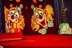 Circus curtain Stock Image