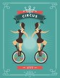 Circus dancer poster Royalty Free Stock Photo
