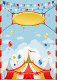 Circus day. Circus poster with space for text Stock Image