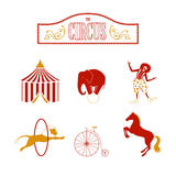 Circus Design Elements Royalty Free Stock Photography
