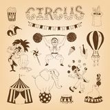 Circus design elements Royalty Free Stock Photos