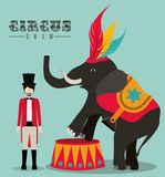Circus design. Over blue background, vector illustration Stock Photography