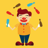 Circus design. Over yellow background, vector illustration Royalty Free Stock Image