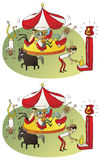 Circus Differences Visual Game Stock Image