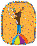Circus dog Stock Images