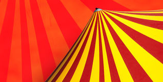 Circus dome. Red and yellow circus dome Stock Photo