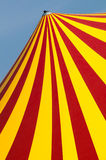 Circus dome. Red and yellow circus dome Royalty Free Stock Photo