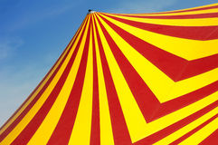 Circus dome. Red and yellow circus dome Royalty Free Stock Photography