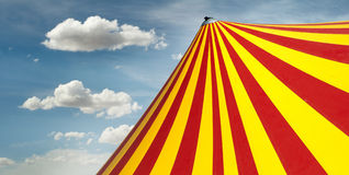 Circus dome. Red and yellow circus dome Royalty Free Stock Photos