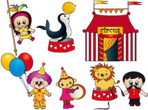 Circus elements. Illustration of a circus elements isolated Stock Image