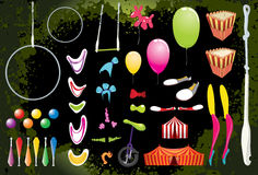 Circus Elements. Royalty Free Stock Image