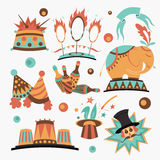 Circus elements collection Royalty Free Stock Images