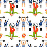 Circus elements seamless pattern. On white background. Vector illustration Royalty Free Stock Image