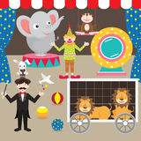 Circus Elements Set Stock Images