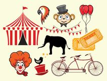Circus  elements Royalty Free Stock Images